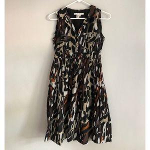 Zara Animal Print A Line Dress Size M